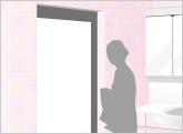 浴室ドア、折れ戸ドアの修理・交換
